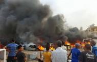 بالصور حريق مهول في سيدي بنور تسبب في خسارة مادية كبيرة
