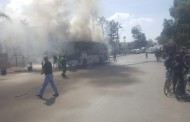 بالصور والفيديو النيران تلتهم حافلة في سيدي بوزيد