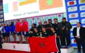 المنتخب المغربي يحثل الرتبة الثالتة في بطولة كاس العالم للغوص الرياضي بالمسابح