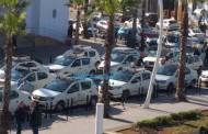 احتجاج بعض ارباب الطاكسيات المنضوين تحت لواء احدى النقابات حول قانون اختيار امين الحرفة
