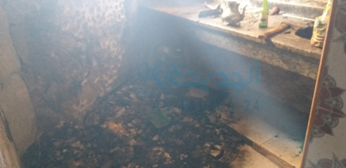 بالصور بوطا صغيرة تتسبب في حريق في حي القلعة  في زنقة لفقيه بلهيبة