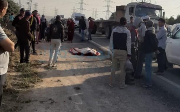 حادثة سير تخلف قتيل في طريق ولاد غانم