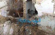 بالصور والفيديو انهيار جانب من منزل في درب الضاية  بسبب اشغال بناء عمارة بشارع الحسن الثاني