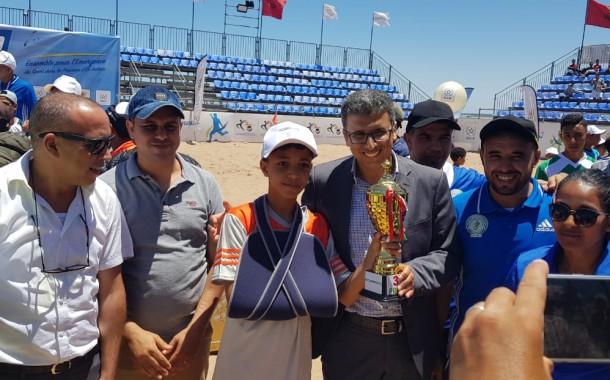 تتويج فريق الجزيرة سيدي الضاوي ببطولة دوري كرة القدم الشاطئية