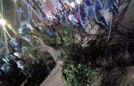 سقوط فرع شجرة من الحجم الكبير على امراة في حديقة محمد الخامس يرسلها الى المستشفى