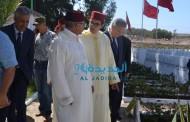 عامل الاقليم يتراس  مراسيم الاحتفال بذكرى ثورة الملك والشعب بمقبرة الشهداء بسجن العادير
